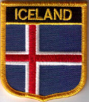 Iceland Embroidered Flag Patch, style 07.